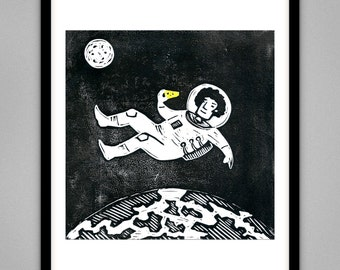 Spaceman - Signed Limited Edition Giclee Print A4 & A3