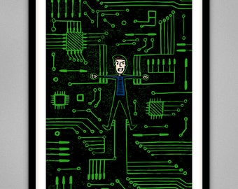 Technology - Signed Limited Edition Giclee Print A4 & A3