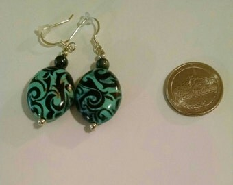 Black and Blue Earrings Item No. 51