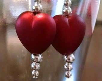Red Heart Earrings Perfect for Valentine's Day Item No. 60