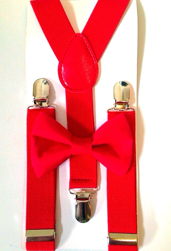 Red Suspenders and Red Bow Tie