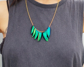 New for Autumn! real Jewel Beetle wing necklace choose chain colour and length