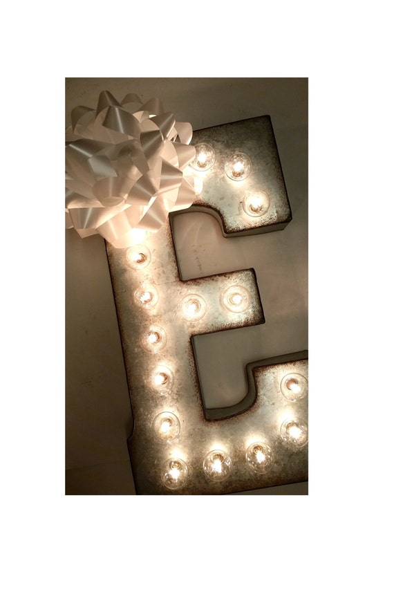 galvanized metal letters items similar to galvanized metal marquee light letter 21 17667