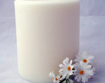 Candle centerpiece, 3x4 pillar candle, soy pillar candle, christmas candle, wedding candle, party candle, unscented candle
