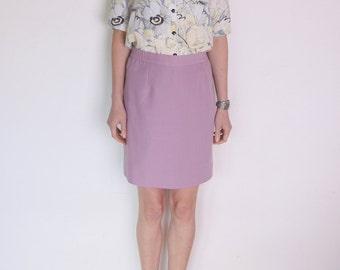 90's lilac violet pencil skirt, pin up skirt, high waisted secretary skirt, preppy office retro skirt