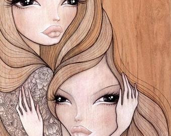 "Print of my original illustration ""Daina and Mai"""