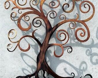 Tree of Life Curly Tree Wall Decor  Wall Art