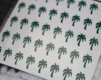 Palm Trees Nail Decals