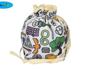 Knitting Project Bag | Knitting Bag | Drawstring Pouch | Sock Bag | Project Bag