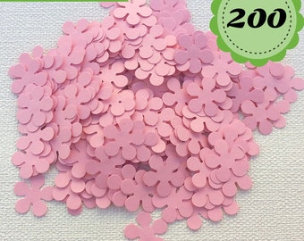 Pink Confettis - 200 Flowers - Scrapbooking - Party confetti