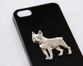 Boston Terrier Apple iPhone 5 or 5s High Shine Black Plastic Protective Cover iPhone 6 Case iPhone 7 Case iPhone 7 Plus Case