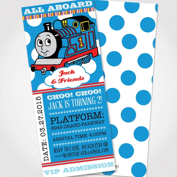 thomas the train birthday invitation by catiewebsterdesign