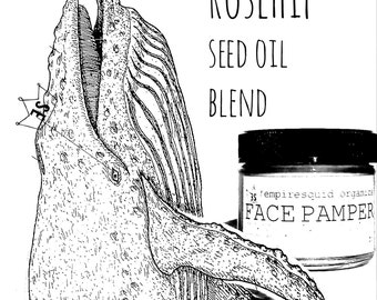 Organic Face Lotion - Face Pamper with Rosehip Seed Oil - Organic Facial Moisturizer - Organic Face Cream - All Natural Facial Moisturizer