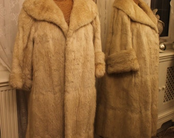 Canadian Musquash honey blonde fur coat - 1950s
