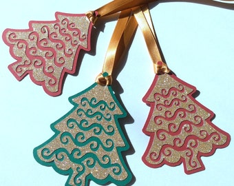 Holiday Gift tags - Christmas Gift Tags - 12 per pack - Handmade - Customizable