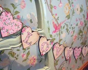 Love is Sweet Garland, Love is sweet banner, Candy Buffet Bunting, Wedding Sign, Home Decor, Fireplace Bunting