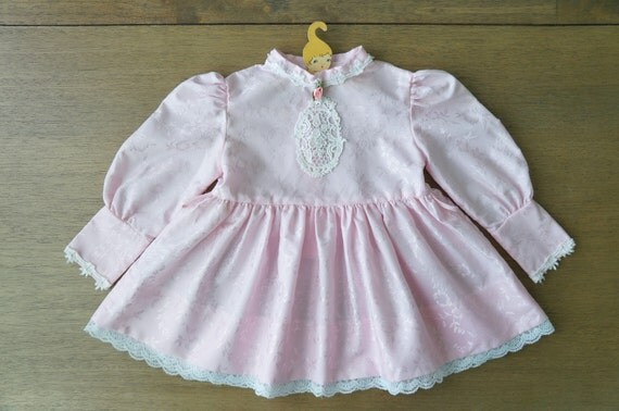 vintage baby clothes baby girl victorian style pink dress
