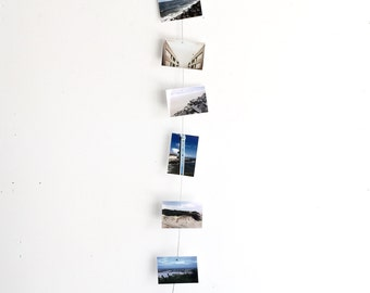 Vertical Cable Photo Holder - Magnets, Photos, Industrial, Metal, Wire, Decor, Office, Home, Photo Display, Picture Holder, String, Gift