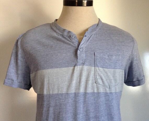 Mens Super Soft Button V Neck T Shirt Gap By