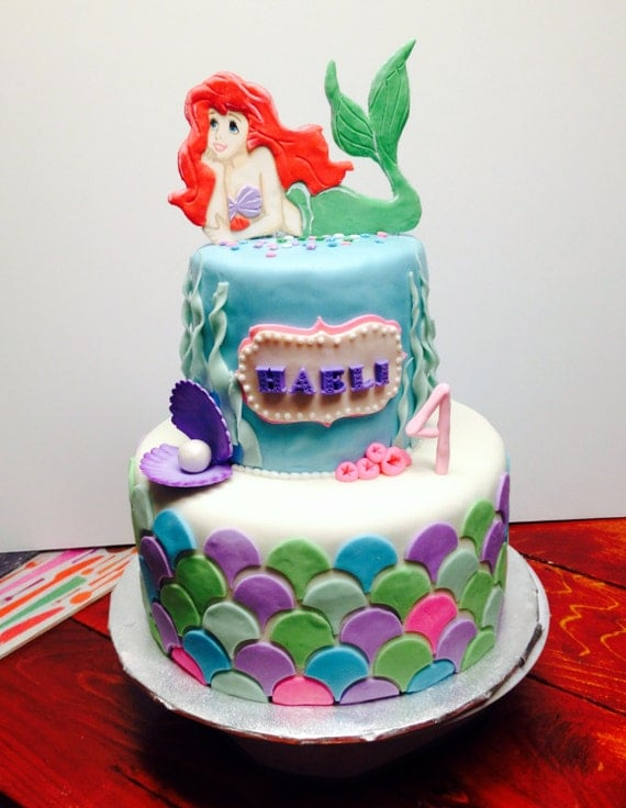 Little mermaid cake topper for Ariel cake decoration