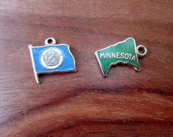 Vintage State of Minnesota Charm QTY 1 - YOUR choice