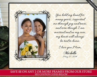 Mother Daughter Wedding Frame Bride Personalized By Thesubshoppe
