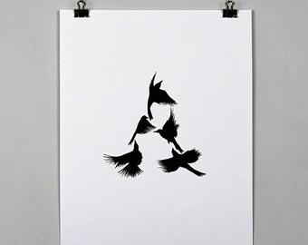 Blackbird Initial Print