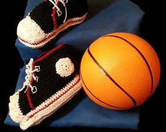 Adorable baby boy tiny tennis booties.  Makes a great shower gift.