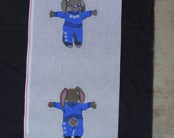TS Needlepoint Canvas Bunny Rabbit  14 count FREE Shipping USA