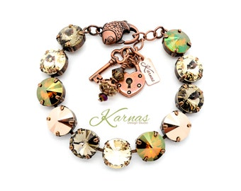 NATURE WALK 12mm Crystal Rivoli Bracelet Made With Swarovski Elements *Pick Your Finish *Karnas Design Studio *Free Shipping*