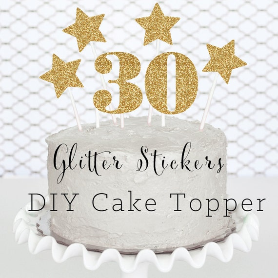 items similar to 30 cake topper diy 30th birthday party