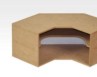 corner desk etsy. Black Bedroom Furniture Sets. Home Design Ideas