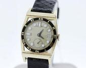 14K Gold Filled Hamilton Piping Rock Wrist Watch Custom Diamond Dial