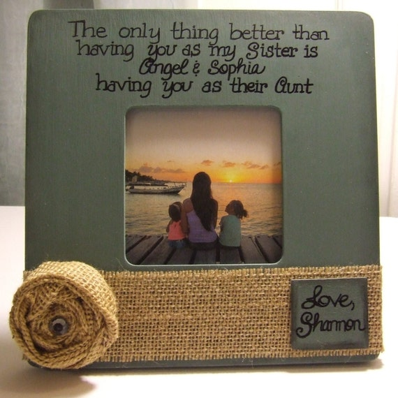 sister frames aunt auntie frames gift for sister gift for aunt personalized frames personalized gift i