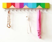 Headband Holder - Girl Nursery Decor - Teething Necklace Holder - Headband - Boy Nursery Decor - Boy Bowtie - Baby Headband Holder - Rainbow