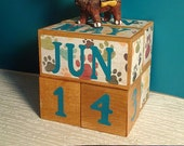 PAW print perpetual POPLAR wooden calendar unique gift for groomer animal lover teacher decorative decor for office cubicle classroom