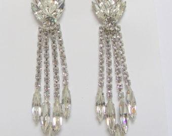 Bridal Rhinestones Earrings Vintage Juliana Style Earrings