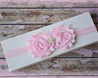 Pink Flower Headband Infant Baby Toddler Girl Birthday Prop Gift Party Wedding