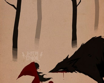 the witch & the wolf pt 1 - fine art print - 9x12