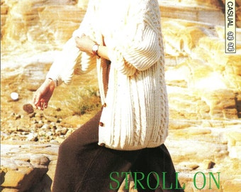 "Knitting pattern - Woman's ""Stroll On"" cardigan - Instant download"