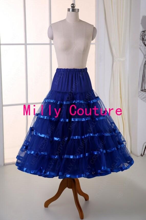 Tea Length Crinoline Petticoat | white tea length vintage