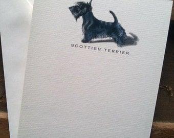 Scottish Terrier Dog Note Card Set