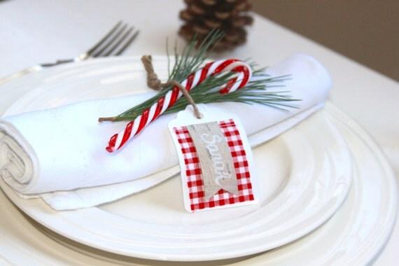 articles similaires etiquette cadeau emballage no l d coration table carte cadeau. Black Bedroom Furniture Sets. Home Design Ideas