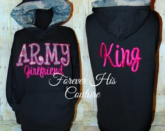 ARMY Girlfriend ACU camo hood pullover Army Wife Army Mom Army Strong Army Sister Army Sweetheart