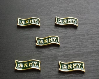 Army Floating Charms for Floating Lockets-Gift Idea