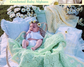 Lemon Drops & Daisies Crocheted Baby Afghans from Leisure Arts