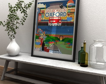 Ole Miss - Saturdays In Oxford - Ole Miss Game Day Art Print