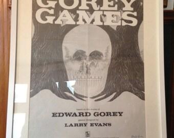 Signed Edward Gorey Poster