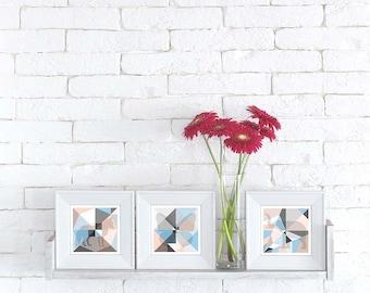 Origami Unfolded postcards 'Blossom' set of 3