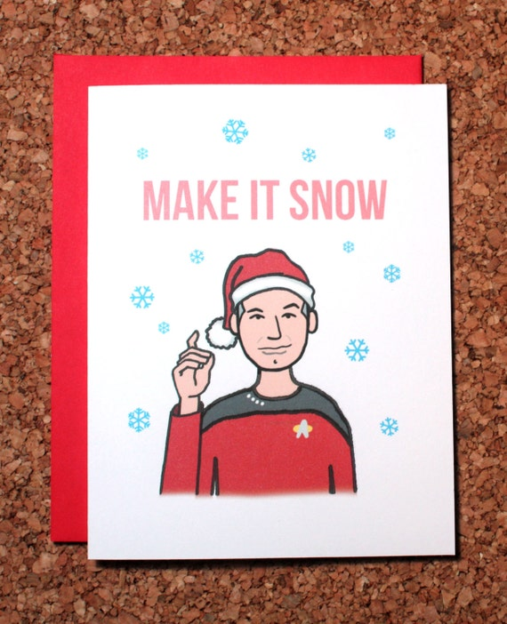 Star Trek Christmas Card / Make it snow Picard / Christmas